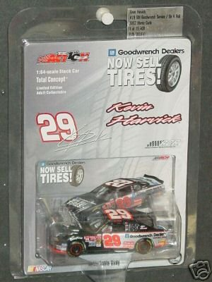 - Kevin Harvick #29 2002 On a Roll Goodwrench Service Goodwrench Dealers Now Sell Tires RCR 1/64 Scale Action Racing Collectables Only 15408 Made Hood Opens