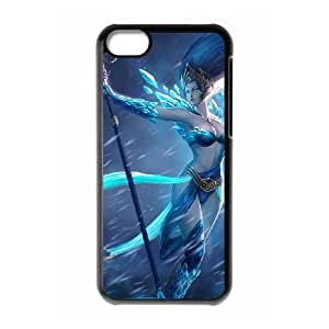 iPhone 5c Cell Phone Case Black League of Legends Frost Queen Janna GYV9435614