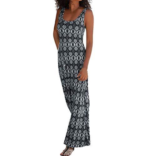 TnaIolral Women Boho Dresses Halter Neck Print Sleeveless Summer Mini Beachwear Sundress Skirt