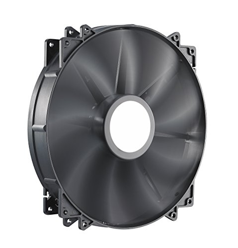 Black Case Fan - Cooler Master MegaFlow 200 - Sleeve Bearing 200mm Silent Fan for Computer Cases (Black)