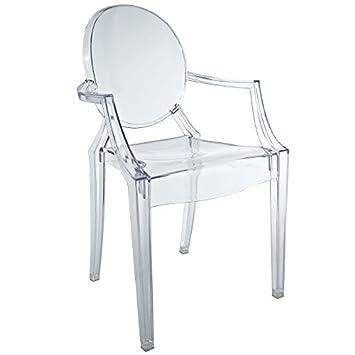 Modway Casper Kids Chair in Clear