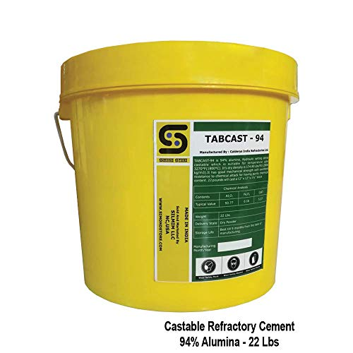 94% Alumina Dense Castable Refractory Cement 22 Lbs.