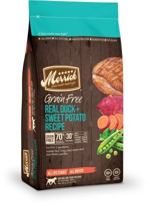 MERRICK PET FOOD - MD GRAIN FREE REAL DUCK/SWEET POTATO 4LB