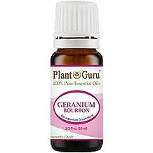 Geranium Bourbon Essential Oil 10 ml. 100% Pure Undiluted Therapeutic Grade.