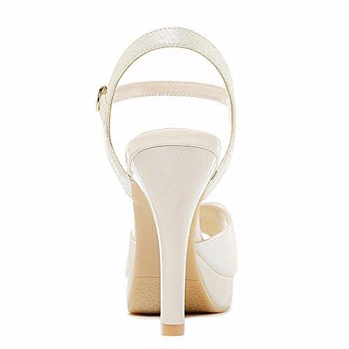 No. 55 Shoes Scarpe Donna per Sandali Estivi,Argento,US7.5/EU38/UK5.5/CN38