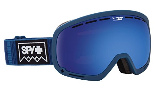 SPY Optic Marshall Deep Winter Navy Snow Goggles | Aviation Scoop Design Ski, Snowboard or Snowmobile Goggle | Two Lenses with Patented Happy Lens - Electric Polarized Goggles