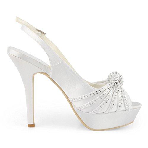Slingback Morsiamen Valkoinen Satiini 13cm Naisten Tmz368 Kantapää Sandaalit Alustan Ilta Osapuoli Muodollinen Minitoo gAwRfqn