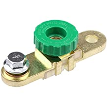 Naladoo Car Accessory Brass Side Mount Car Auto Side Post Battery Master Disconnect Cut Off Switch (Green)