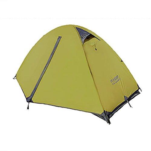 平等算術悲惨TY&WJ キャンプテント 二重層 ドームテント 二重扉 ティーピー ポータブル折りたたみ ハイキング 登山 防雨 防風 一人