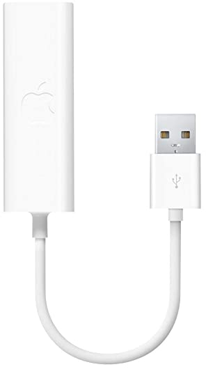 Apple MC704LL/A Adaptador y Tarjeta de Red Ethernet 100 Mbit/s - Accesorio de Red (Alámbrico, USB, Ethernet, 100 Mbit/s, Blanco)