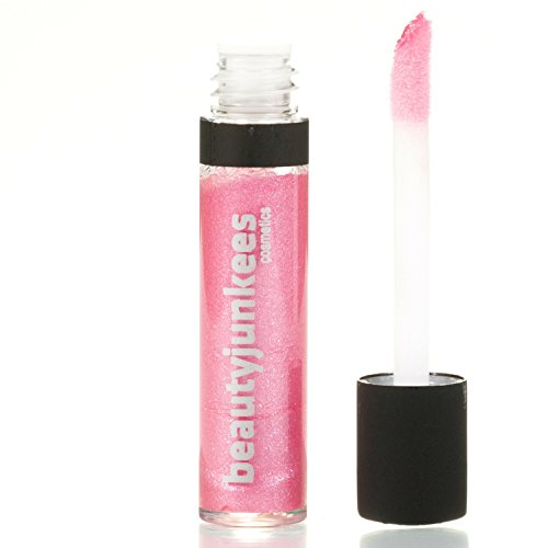 Long Lasting Shimmery Lip Gloss – Candy Pink Mini Lipgloss, Mint Flavored Moisturizing Shine, Sheer, All Natural, Paraben Free, Gluten Free, Cruelty Free, Made in the USA - Pink Gloss Sephora Lip