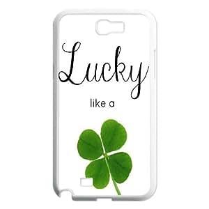 -ChenDong PHONE CASE- For Samsung Galaxy Note 2 Case -Lucky Clover & Irish Flag-UNIQUE-DESIGH 13