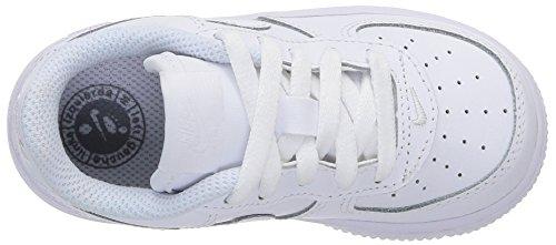 Nike Force 1 (TD) Zapatillas, Bebé-niños Blanco (White / White-White)
