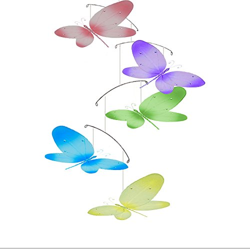 Dragonfly Mobile Crystal Nylon Mesh Dragonflies Mobiles Decorations Decorate Baby Nursery Bedroom Girls Room Ceiling Decor Birthday Party Baby Shower Crib Mobile Baby Mobile Hanging Mobile 3D Art by Bugs-n-Blooms