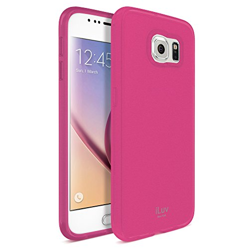 Iluv Gelato Case (iLuv Gelato Soft Flexible Lightweight and Soft Protective Case with Semi Transparent Back for GALAXY S6-Pink)