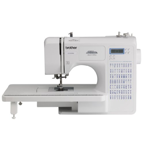 Brother Project Runway CE7070PRW 70-Stitch Computerized Sewing model using diverse Table