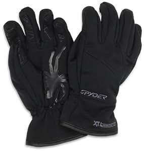 Spyder Men's Facer Windstop Ski Glove, Black, Large
