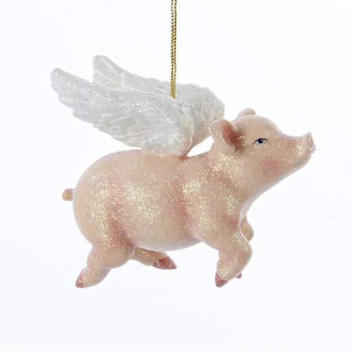 Kurt Adler Flying Pig Christmas Ornament