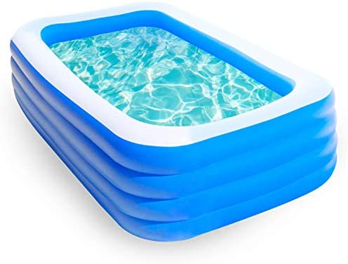 10ft Inflatable Swimming Pool, Family Full-Sized...