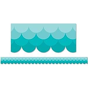 Creative Teaching Press Ombre Turquoise Scallops Borders (0182)