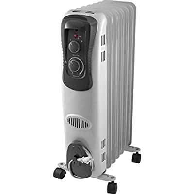 Mainstays, Oil Filled, Electric Radiant Space Heater, White #HO-0270W Radiator
