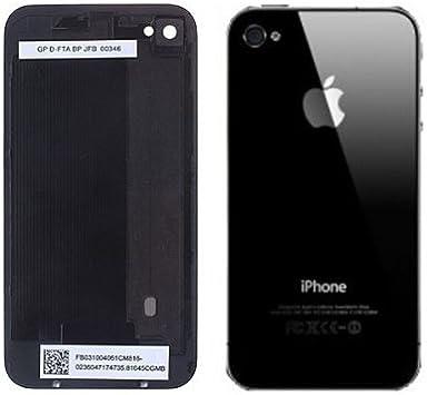 Coque arrière de remplacement vitre iPhone 4 Noir (Livré avec tournevis Torx) (Le motif ou une image sur la couverture arrière est un film protecteur. ...
