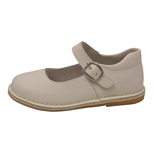 L'Amour Little Girls White Classic Matte Leather Mary Jane Shoes 7 Toddler