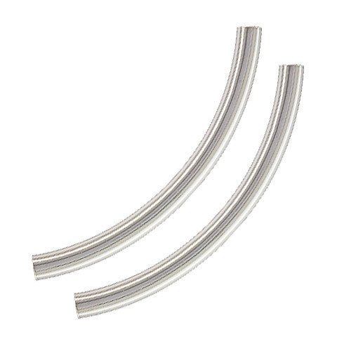Sterling Silver Large Sleek Noodle Tube Beads 38mm x 3mm (2)