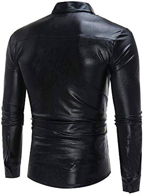 Buby Męskie Einfarbig Big Body Design Nachtclub Strickjacke Męskie Langarm T-Shirt Helle Farbe Lässig All-Match Revers Pullover Slim Fit Tops Shirts Blusen Mäntel Jacken Outwear Sweatshirt Cardigan: Odzież