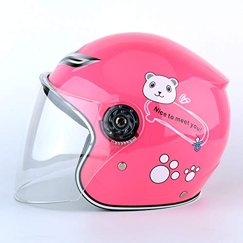 - XUBA Children Cycling Helmet Full Face Bike Helmet for Kids Girls Boys Safety Protector Riding Equipment Motorcycle Helmet Pink One Size