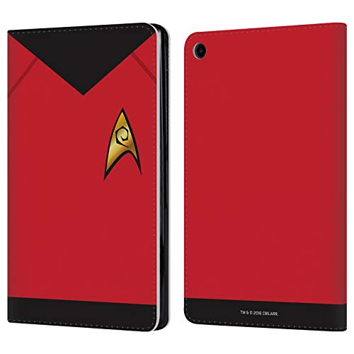 Official Star Trek Operations Uniforms and Badges TOS Leather Book Wallet Case Cover for Amazon Fire HD 8 (2017) ()