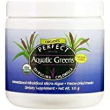 Perfect Aquatic Greens Powder - Organic and Fairly-Traded Spirulina and Chlorella - 135 grams