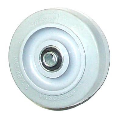 "Colson Gray TPE Performa Soft Rubber Wheel 3-1/2"" x 1-1/4"" Ball Bearing 2-3-445"