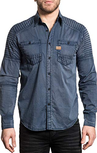 Affliction T-shirt Top - Affliction Men's Plus Size Hell Bound, Navy Brush, 3X
