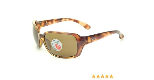 Ray-Ban RB4068 642/57/de tortuga gafas de sol polarizadas marrón 60 mm