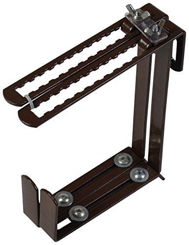2er Set Blumenkastenhalter universal Balkonkastenhalter Balkonkasten Halterung (Braun)