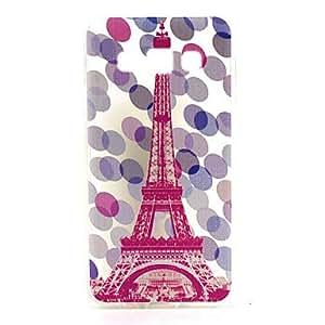 HJZ 4.5 Inch Eiffel Tower Pattern TPU Soft Case Back Cover for Samsung GALAXY A3