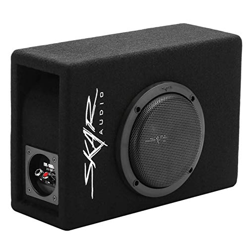 Skar Audio EVL-1X65D4-V-LP 6.5″ 400 Watt Low Profile Slot Port Loaded Car Subwoofer Enclosure