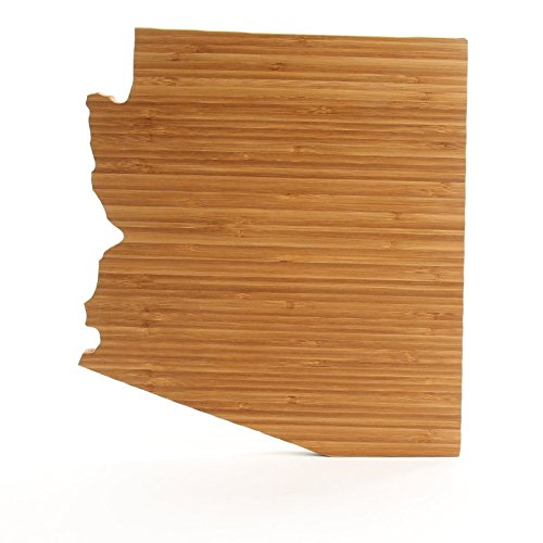Cutting Board Company Arizona Shaped Cutting Board, Bamboo Cheese Board (State Themed Gifts)