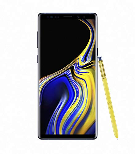 "Samsung Galaxy Note 9 SM-N9600 Dual SIM (128GB/6GB, Ocean Blue) 6.4"" QHD+ sAMOLED Factory Unlocked GSM (No CDMA) - International Version (No Warranty)"