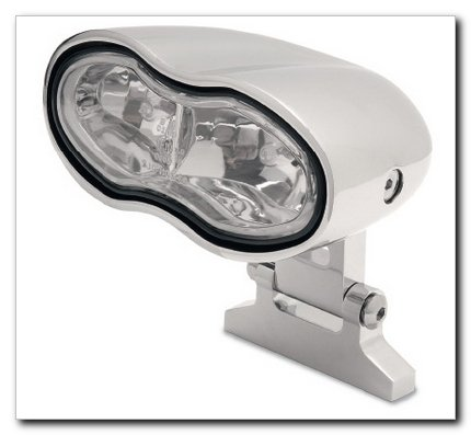 Highway Hawk 68-106 Oval Wave Twin Headlight, Chrome