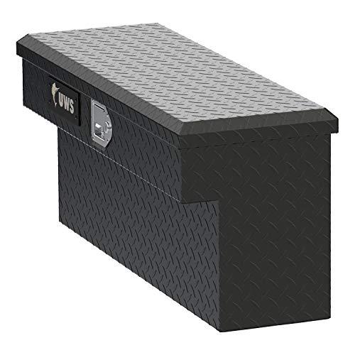 (UWS UTV-SM33-MB UTV Side Tool Box 33 in. Single Lid Secure Lock Handles w/Mounting Hardware Not Compatible w/UTV Crossover Tool Boxes Matte Black UTV Side Tool)