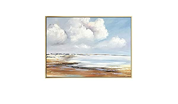 Geiqianjiumai Paisaje Abstracto Playa Pintura al óleo Lienzo Arte ...