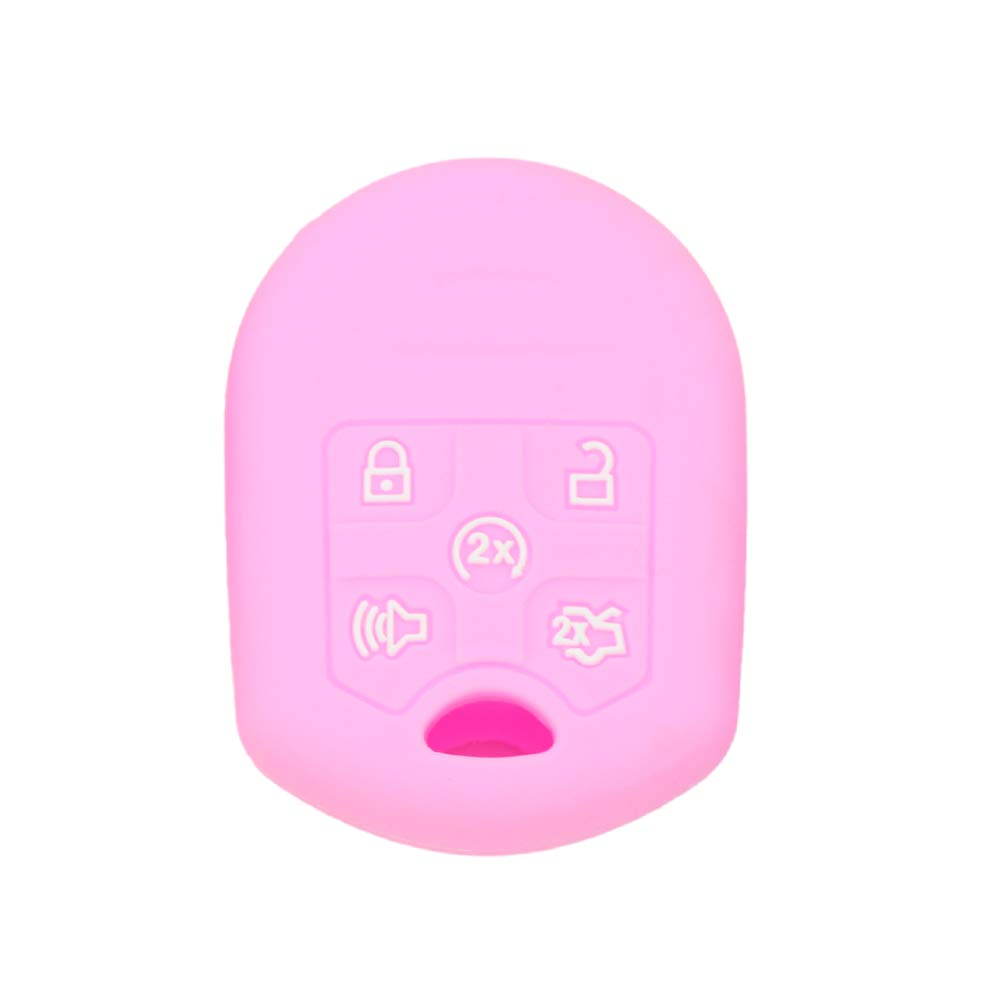 SEGADEN Silicone Cover Protector Case Skin Jacket fit for FORD 5 Button Remote Key CaseCV2706 Yellow