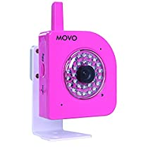 Movo NT4000 720p HD Wi-Fi Enabled IP Network Camera with Motion/Audio Detection & Day/Night Infrared (Pink)