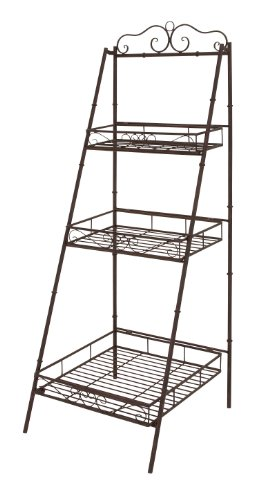 Deco 79 Metal 3 Tier Shelf, 21-Inch by 59-Inch, Set of 2 by Deco 79