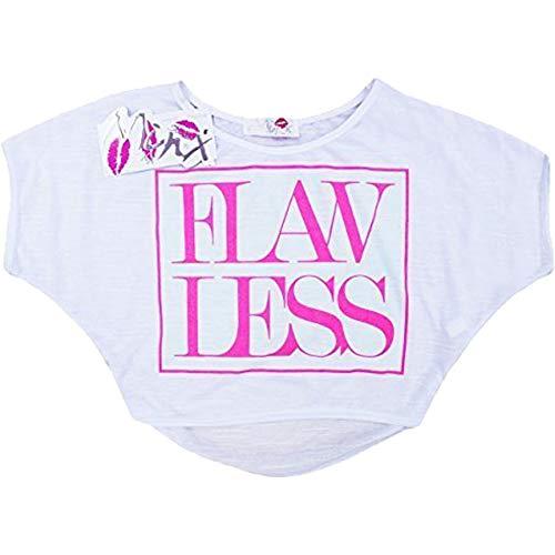 11 Shirt 4 Âge Top Ans 7 10 Enfants T 12 Mode Kids Flawless 8 Crop Imprimé A2z Élégant Filles Saison 13 Blanc 9 Nouveau HqFCCp