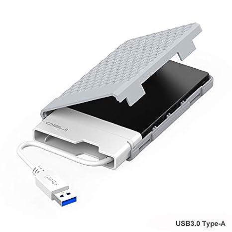 ElecGear Carcasa Box Externa USB 3.0 a SATA para 2.5 Disco Duro SATA Hard Disk Drive HDD y SSD, Caja con SuperSpeed 9.5mm/7mm Harddisk Estuche ...