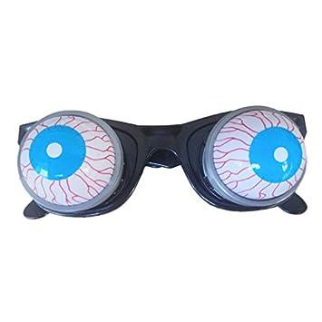 elegantstunning Prank Joke Toy Funny Horror Pop Out Eyes Glasses Dropping Eyeball Glasses for Halloween Costume Parties Joke Gift