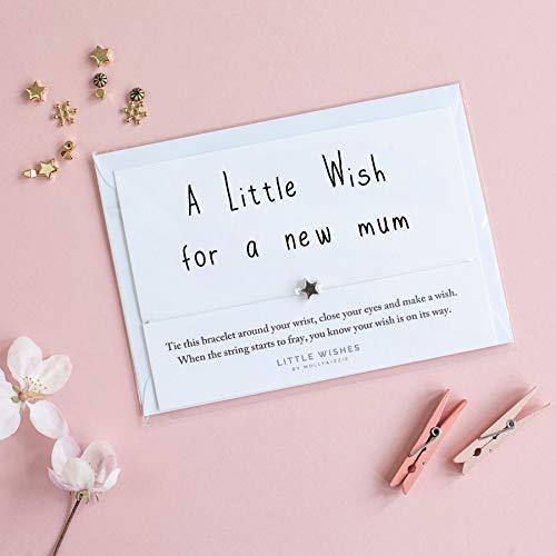 A Little Wish para un Nuevo Mamá Pulsera con sobre Mum To ...